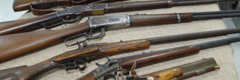 Antique Guns at Antique Sporting & Advertising Show
